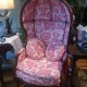 pink hooded louis xv chair martini