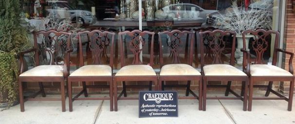 Craftique Chippendale Chairs #635 and #636