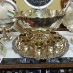 f b roger silverplate punch bowl