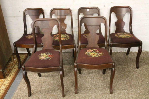 Rare Craftique 625 Fiddle Back Chairs