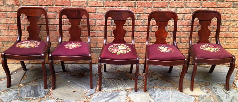 SIX 625 Fiddle Back Chairs