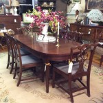 craftique 222 table with 6 chippendale chairs